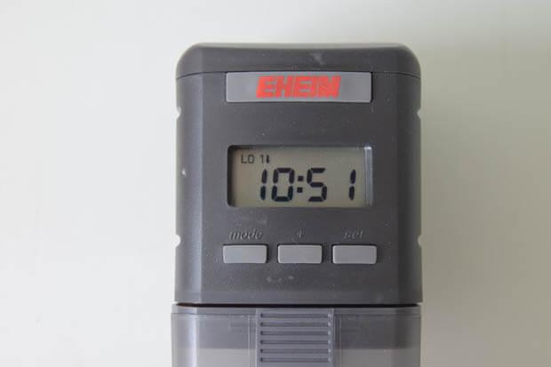 Anzeige von nachlassenden Batterien im Eheim Futterautomat